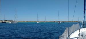 Puerto S'Espalmador Formenteran saarella.