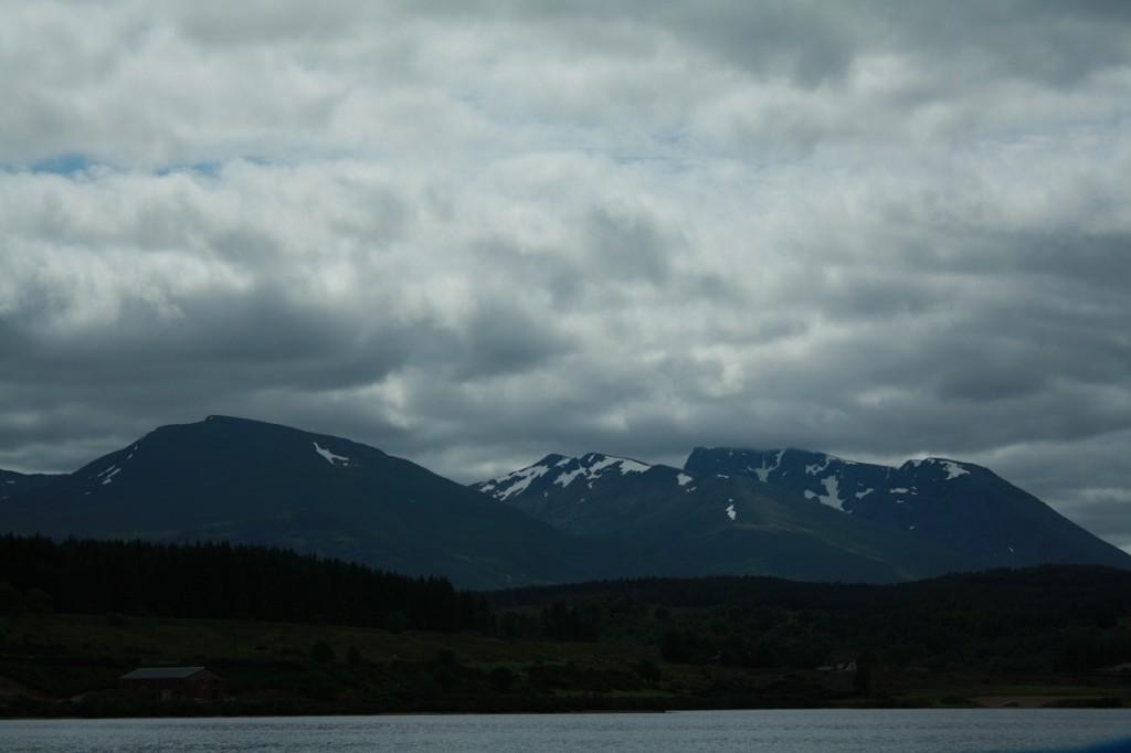 Ben Nevis Loch Lochylta nähtynä