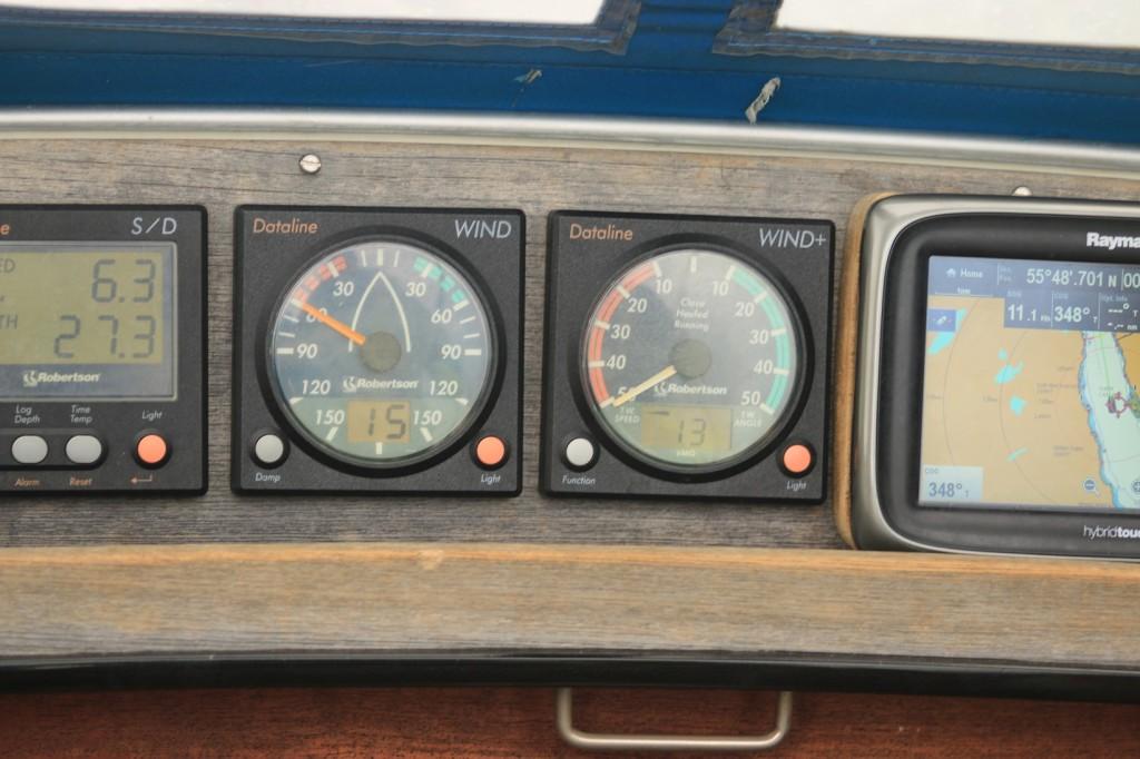 Sound of Islay - nopeus lokissa 6.3 ja  GPS:ssä 11.1 solmua