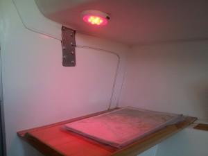 LED valo yö-moodissa