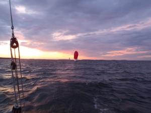 Upea aamu merellä
